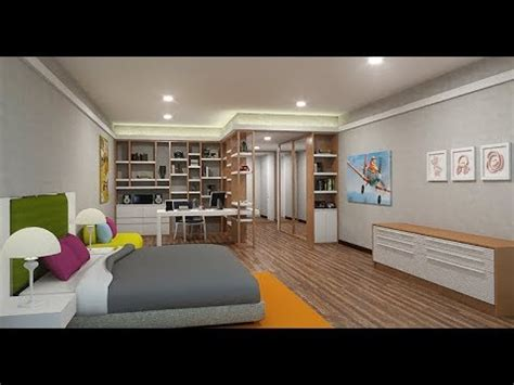 sketchup kids bedroom design vray  youtube