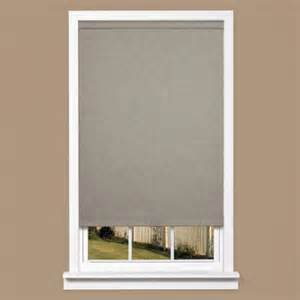home depot window shades homebasics grey linen look thermal fabric cordless roller
