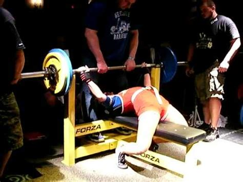 westside barbell bench press jean forgatsch westside barbell 225 wr bench press 123