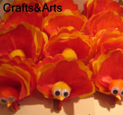 Tissue Paper Turkey Craft - crafts tissue paper turkey