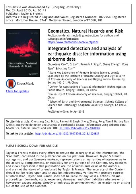 earthquake report text integrated detection and analysis of earthquake disaster