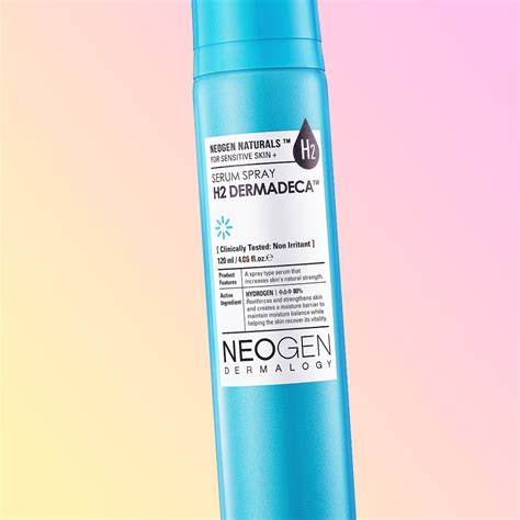 the neogen h2 dermadeca serum sprays brightens skin