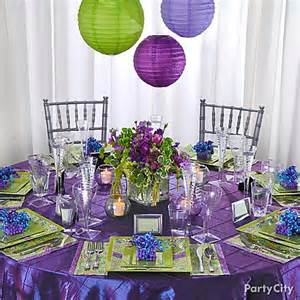 purple wedding reception decorations romantic decoration