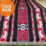Blanket Tenun Etnik Toraja Bla156 kain tenun ikat motif kelinci warna merah kain tenun