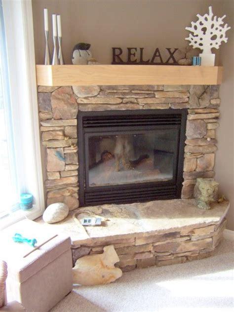 corner stone fireplace stone corner fireplace home design