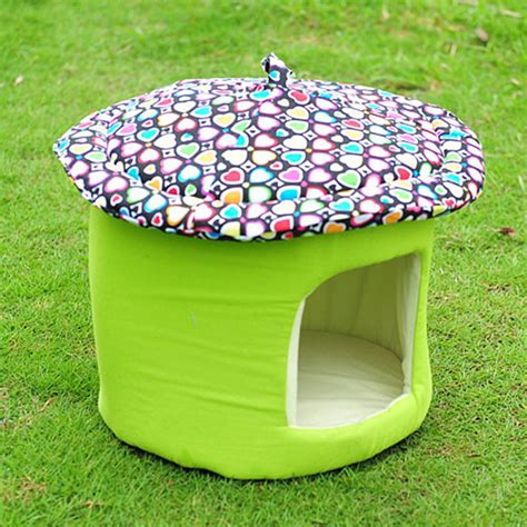 backyard pet soft pet home mushroom pets bed soft dog puppy warm house with cushion