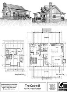 2 Story Cabin Plans Small Cabin Floor Plan House Plans Pinterest