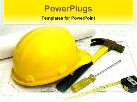 construction powerpoint presentation templates items used in construction powerpoint template background