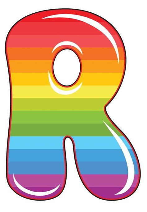 printable rainbow letters letter r clipart free collection download and share
