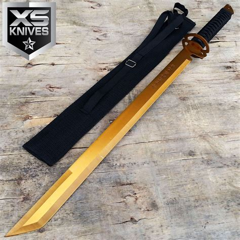 tactical sword 27 quot gold tang blade machete tactical katana
