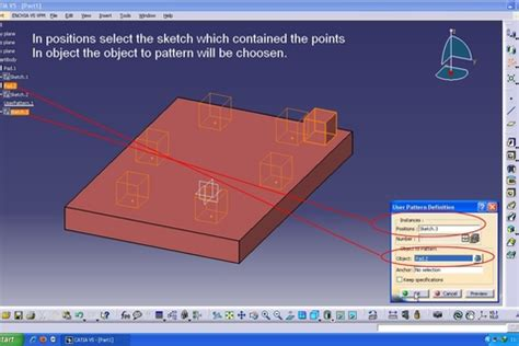 User Pattern Definition Catia | tutorial using user pattern in catia v5 grabcad