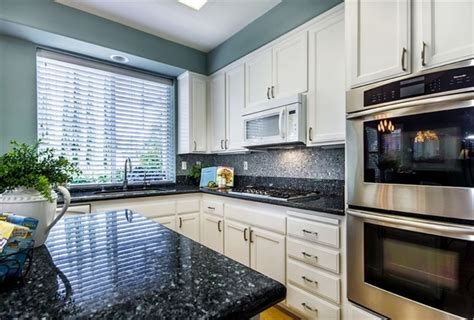 fascinating blue granite countertops in modern and handsome kitchens