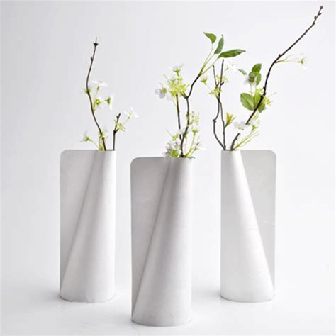 vase design tyvek vase by jiwon choi