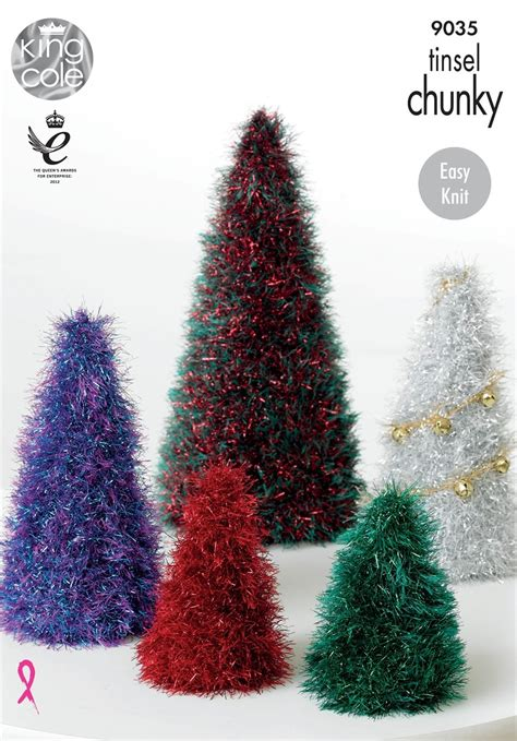 wool christmas tree pattern king cole tinsel christmas tree pattern kc9035 wool4less