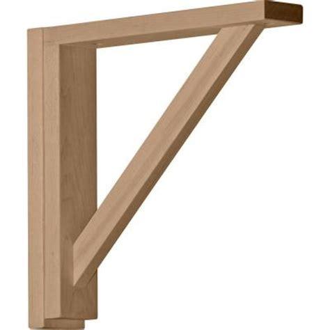 Wood Brackets Home Depot Ekena Millwork 2 1 2 In X 12 3 4 In X 12 1 4 In