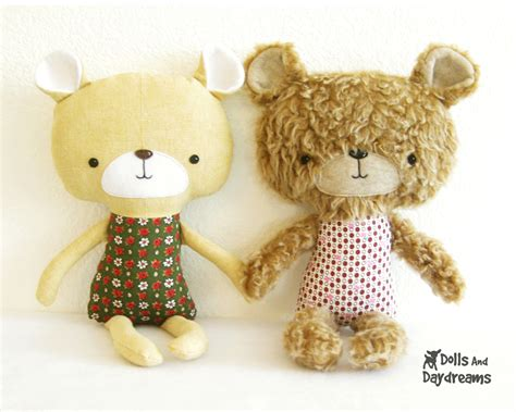 pattern teddy bear dolls and daydreams doll and softie pdf sewing