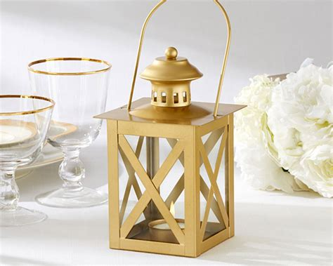 classic gold candle holder lantern wedding centerpiece