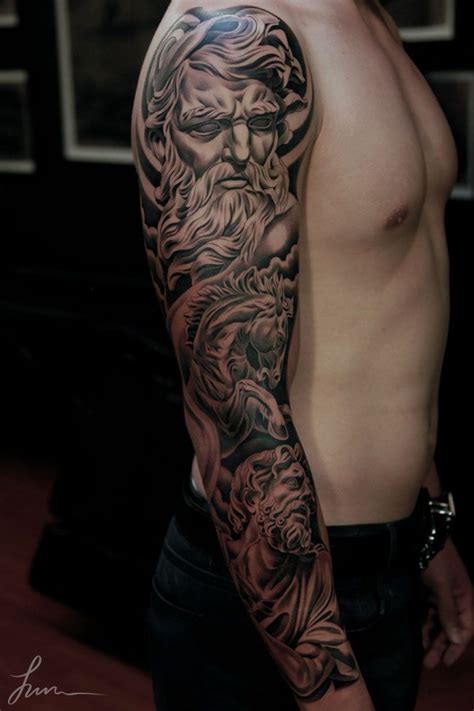 amazing tattoo for men beautiful mythical sleeve ideas 3d sleeve