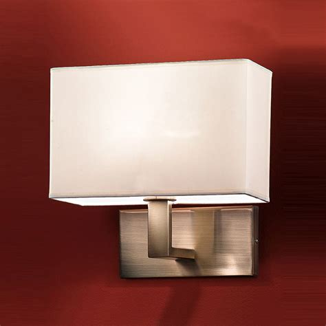 Fabric L Shades For Wall Lights by Coniston Wall Light In Bronze Complete With Fabric Shade