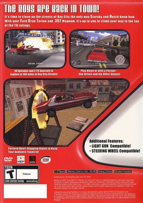 Starsky Hutch Ps2 starsky hutch box for playstation 2 gamefaqs