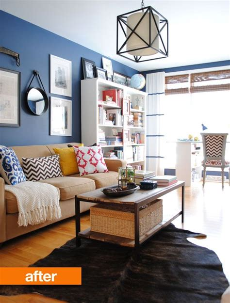 wall colors for living rooms before after jenna s living room makeover blue wall