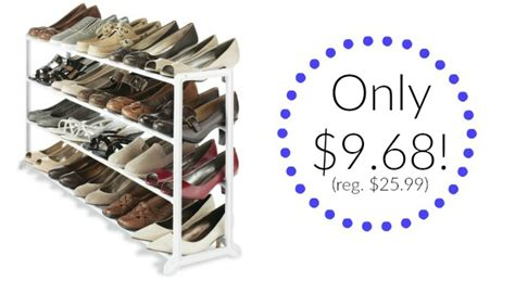 whitmor white resin 20 pair shoe rack only 9 68 reg