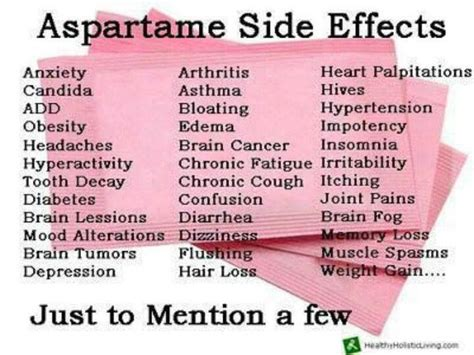 Effects On Detox by Aspartame And Its Side Effects Health