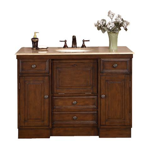 Sink Vanity With Top by Shop Silkroad Exclusive Walnut Undermount Single