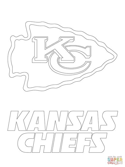 Kansas City Chiefs Coloring Pages kansas city chiefs logo coloring page free printable