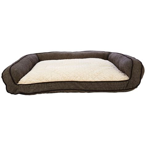 memory foam couch bed harmony memory foam couch dog bed in brown petco