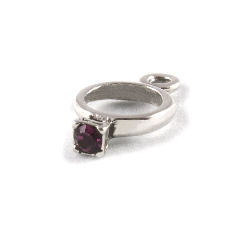 birthstone ring charms sterling silver charm february ebay