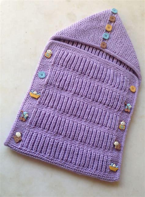 envelope knitting pattern baby cocoon snuggly sleep sack wrap knitting patterns