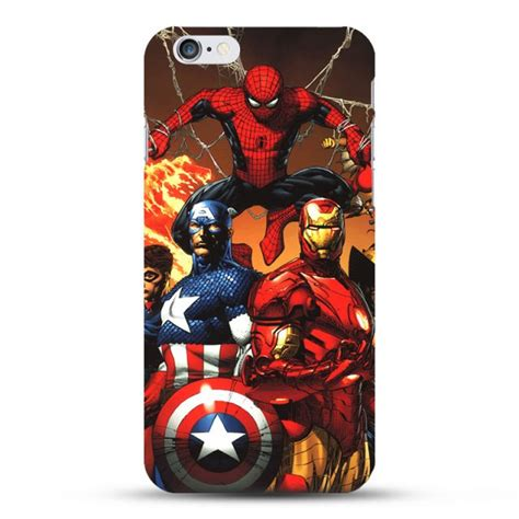 Casing Soft Captain America Marvel For Iphone 6 6s marvel captain america shield iron deadpool painted pattern
