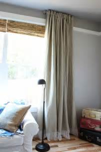 Ikea Drapery Easy Diy No Sew Embellished Ikea Curtain Panels The