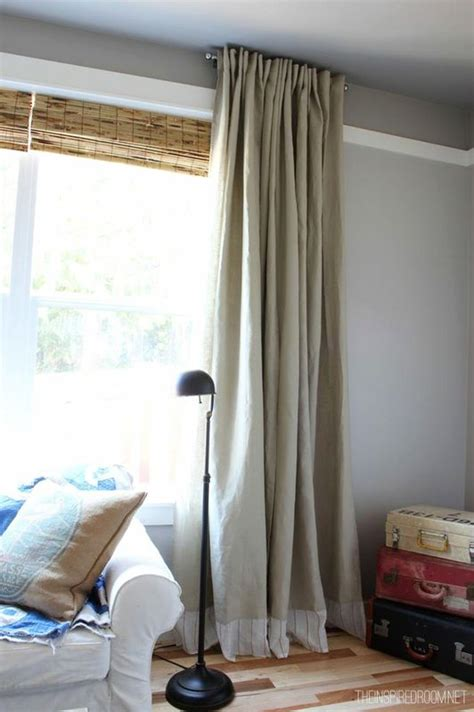 ikea curtain easy diy no sew embellished ikea curtain panels the inspired room