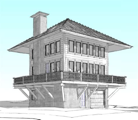 fire tower house new home plan the lookout a new custom home in west