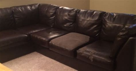 refurbish leather couch how to salvage bi cast leather couch hometalk
