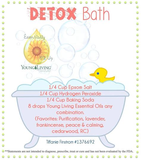 How To Make A Detox Bath With Essential Oils by Living Essential Oils Detox Bath Oils