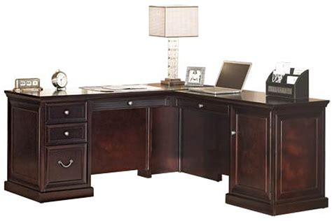 espresso office desk espresso executive office l desk with right return