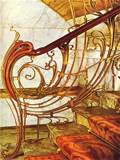 Banister House Hotel Balustrade By Victor Horta Steps And Staircases