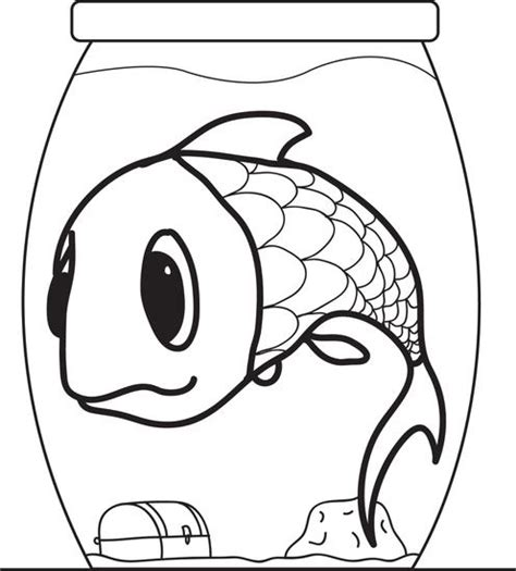 coloring pages of cartoon fish free printable cartoon fish in a fishbowl coloring page