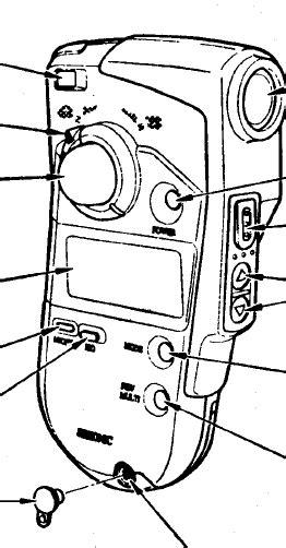Sekonic L-408 Light meter instruction manual, user manual