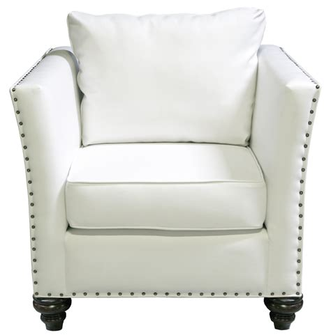 white leather chair nailhead chair white leather designer8