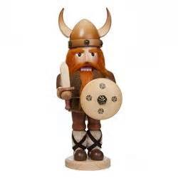 german natural stained wooden viking nutcracker uff da