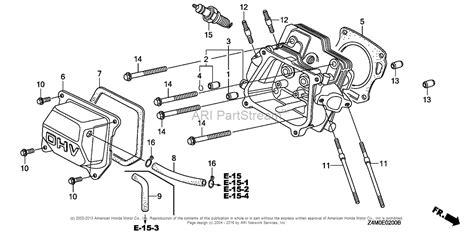 honda engines gxut qmxc engine tha vin gcbpt  parts diagram  cylinder head