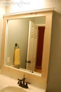 framed bathroom mirror diy