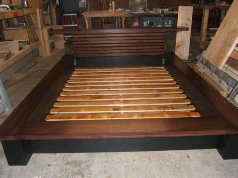 diy king size platform bed with storage quick woodworking projects