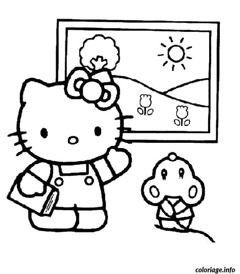 lulu kitty coloring pages coloriage dessin hello kitty 300 dessin