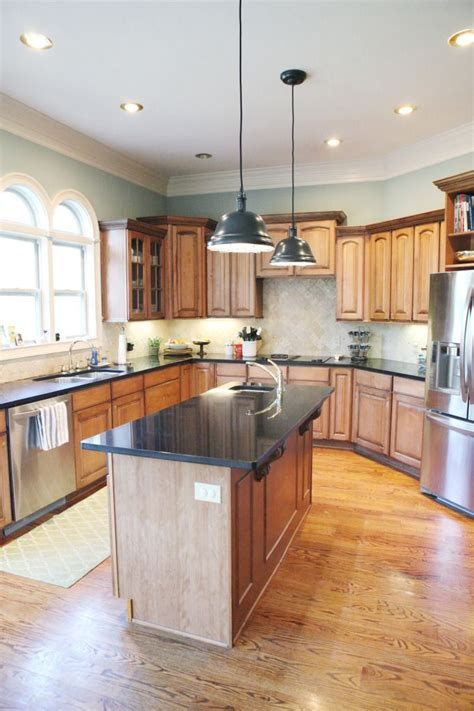 wood trim for kitchen cabinets kitchen paint color this looks good with wood cabinets
