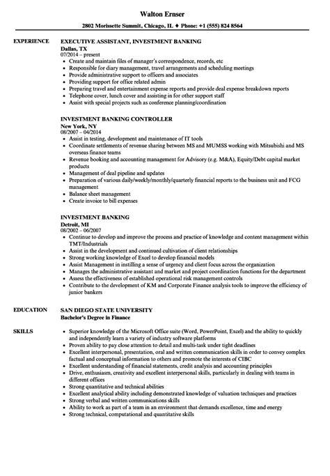 Investment Banking Resume by Investment Banking Resume Sles Velvet